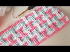 Learn to crochet beautiful blanket and bedspread. Gorgeous and attractive with modern design. After you done your work this will be your favorite blanket. Crochet Border Patterns, Crochet Designs, Crochet Video, Crochet Kids Hats, Crochet Baby Booties, Yarn Shop, Learn To Crochet, Baby Sandals, Baby Shoes