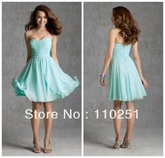 New Arrivals Free Shipping Cheap Sweetheart Pleated Short Chiffon under 100 Knee Length Country Style Bridesmaid Dresses 2014