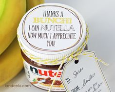 Bananas-and-Nutella-Thank-You-Gift-Idea-cute Teacher Appreciation ideas