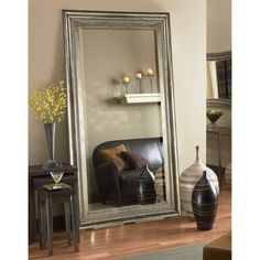 Belham Living Marla Oversized Mirror - x in. - Add beauty and drama to your home with the Belham Living Marla Oversized Mirror - x in. This piece boasts a large oversized frame with a beaded. Large Leaning Mirror, Long Mirror, Mirror Mirror, Mirror Decor Living Room, Bedroom Decor, Traditional Wall Mirrors, Mirrors For Sale, Living Room Flooring, Home Decor Trends