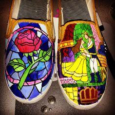 Beauty and the Beast Shoes on Wanelo