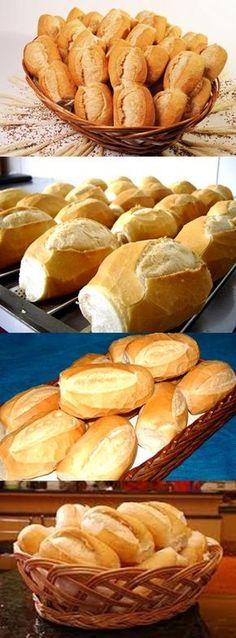 Pan Bread, Bread Baking, Brazilian Dishes, Brazilian Recipes, Book Cakes, Types Of Bread, Pan Dulce, Fresh Bread, Food Presentation