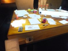 Artists work table