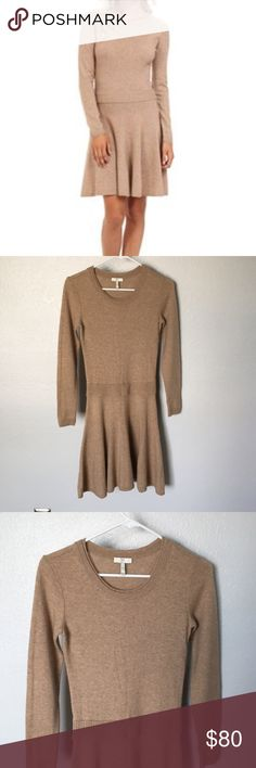 "Joie Talissa Wool/Cashmere blend sweater dress Beautiful Joie sweater dress, very soft made of wool and cashmere, size XS , length is approx 36""  Wear it with flats for a comfortable, yet classic look or with sexy heels for a night out 👌🏼💃🏽 Great condition, minimal to no signs of wear ❤️ Joie Dresses Midi"