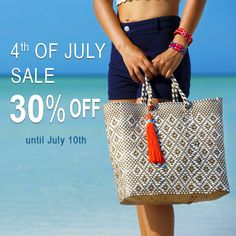 Shop now! Our handmade Stella tote is 30% off until July 11th, 2016. Join the fashion revolution and choose artisan made style!