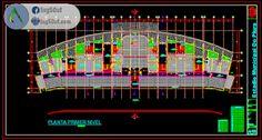 مخطط الملعب مقاطع + واجهة اوتوكاد dwg Autocad, Ferris Wheel, Fair Grounds, Travel, Plants, Viajes, Destinations, Traveling, Trips