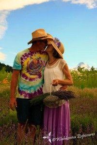 Joe Bon & Lavender Lady~True Love!! #lavender#organic#love #lavenderdaze#hoodriverlavender #onthefarm #farm #garden #mthood#hoodriver #traveloregon #wahkeenaesposures #cariGesch #fleur #flowers #lavender #purple