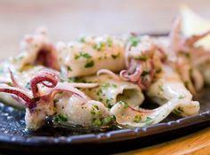 Calamari Recipes, Good Food, Yummy Food, Portuguese Recipes, Fish And Seafood, Finger Foods, Potato Salad, Shrimp, Food And Drink