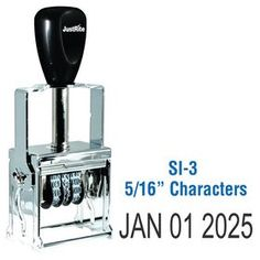 """Self Inking *Date Stamp *5/16 *Characters Need a self inking date stamp? Visit Acorn Sales and order the Self Inking Date Stamp 5/16"""" Characters at an unbeatable price. Great fit for any office."""