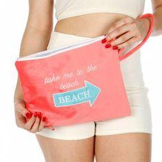 Knitting Factory Water Proof Wet Bikini Bag Selection (Take me to the beach Pink #KnittingFactory #Default