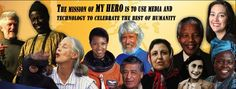 My Hero is a non-profit educational project that brings information to a global audience. From peacemakers such as Nelson Mandela to scientific visionaries such as Albert Einstein, visitors can explore historical and contemporary heroes. Visitors are also invited to create web pages about the people who inspire them, providing thousands of children and their parents a chance to tell their stories. Grades 2-12