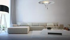 Cryst - Drop 55 Sofa, Couch, Vintage Chandelier, Drop, Led, Warm, Interior Design, Modern, Inspiration