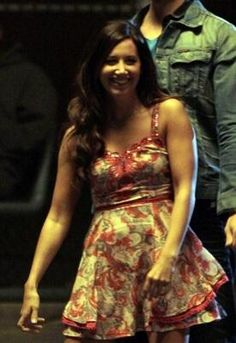 Who made Ashley Tisdale's floral dress that she wore on the set of Hellcats? Dress – Free People