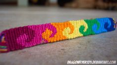 Rainbow waves alpha friendship bracelet pattern #10315 - For more patterns and tutorials visit our web or the app!