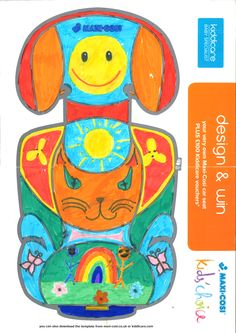 BRONZE WINNER Lauren Stevens (Age 10) Another bright and beautiful design, Lauren's seat features flowers, butterflies, smiley faces and a rainbow. Judges loved the way she used the shape of the back rest as inspiration for a very happy tabby cat, which is why they made her a Bronze winner!