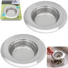 [$7.99 save 28%] Amazon #LightningDeal 79% claimed: 2PCS Stainless-Steel Kitchen Sink Strainer - Large Wide Rim ... #LavaHot http://www.lavahotdeals.com/us/cheap/amazon-lightningdeal-79-claimed-2pcs-stainless-steel-kitchen/158593?utm_source=pinterest&utm_medium=rss&utm_campaign=at_lavahotdealsus