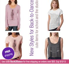Free Shipping this weekend! See what's new for Back-to-Dance. Use coupon code Back2Dance on orders over $50 for free shipping. Offer expires on 9/3/13. http://www.covetdance.com/