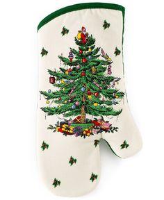 """Spode """"Christmas Tree"""" Oven Mitt"""