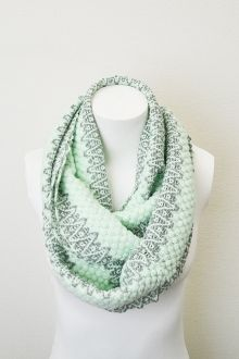 Mint Infinity Scarf just $12. in mint or pink! heavy for Fall/Winter #fashion #infinityscarf