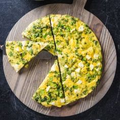 Broccoli and Feta Frittata . Loading up a frittata with meat, vegetables, and cheese can yield a simple, satisfying meal—or a rubbery egg disk with a wet, runny core. Potato Frittata, Frittata Recipes, Asparagus Frittata, Breakfast Frittata, Cooking Courses, Cooking Recipes, Nytimes Recipes, Vegetarian Recipes, Healthy Recipes