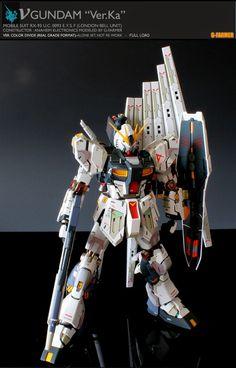 """Custom Build: MG 1/100 RX-93 v Gundam Ver. KA """"Real Grade Style Detailing"""" - Gundam Kits Collection News and Reviews"""