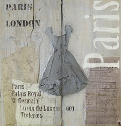 AST 0004C schilderij steigerhout vintage Paris diverse afmetingen - kopen bij mooiaandemuur.com