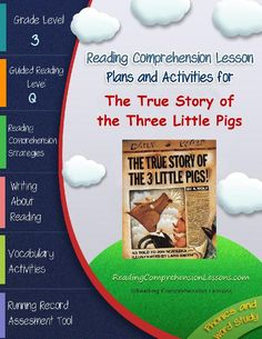 TeacherLingo.com $12.50 - This lesson plan activity package for The True Story of the Three Little Pigs comes complete with teacher guides, reading comprehension strategy lesson plans, reader