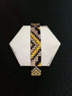 Cane woven Miyuki delica beads bracelet / bangle bracelet miyuki delica beads