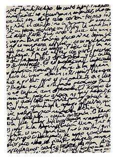 Black on white - Manuscrit Teppich