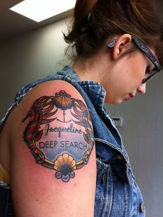 jacqueline / deep search from the life aquatic. wes anderson inspired tattoo