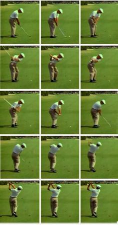 Great Ball Striker Series: Ben Hogan sequence posted by Bradley Hughes who teaches how to perform this older kind of swing. I agree with Bradley that today's modern swing is inconsistent and prone to many flaws. Go to YouTube and check out Bradley Hughes to learn the Golf Swing the previous generation used. My generation actually.