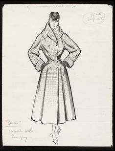 Fashion drawing | Fromenti, Marcel | VA Search the Collections