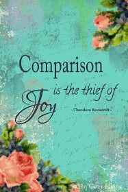 Quote Comparison is the thief of Joy - Jalien Cozy Living