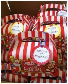 Hello Everyone! Today's post will be dedicated to all you party planners out there. I put this birthday party together for my daughter's birthday two years ago. It was a Big Top Circus Carniva. Circus Carnival Party, Circus Theme Party, Carnival Birthday Parties, Carnival Themes, Birthday Fun, First Birthday Parties, Birthday Party Themes, Birthday Ideas, Circus Wedding