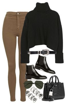"""""""Sem título #1164"""" by oh-its-anna ❤ liked on Polyvore featuring Topshop, Yves Saint Laurent and Forever 21"""