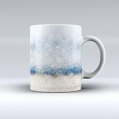 The Unfocused Blue and Gold Sparkles ink-Fuzed Ceramic Coffee Mug from DesignSkinz
