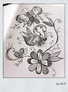 "whimsical tangle drawings....need to learn to, ""see,"" these designs when drawing"