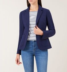 Our bestselling Joella jacket is back. Meticulously designed in our London atelier, this versatile jacket will transitio. Hobbs London, Blazers For Women, Wardrobe Staples, Personal Style, Style Inspiration, Pocket, Shopping, Clothes, Kleding