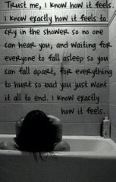 I do know EXACTLY how it feels,  but I'm doing my best not to do this any longer