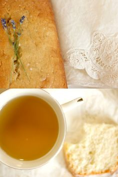 Vanilla lavender tea bread.