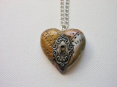industrial steampunk heart necklace