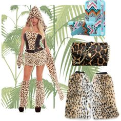 Cheetah Girl - Accessories by empirecase on Polyvore featuring Michael Kors and Cole & Son