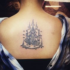 Ganesha tattoo with katha Sakyant Thai tattoo by Ajarn Chai #tattoo #thaitattoo #tattoos #tattooed #thaitattooartis #tattooartis #tattooart #tattoolife #instatattoo #buddha #buddhatattoo #yantra #sakyant #ink #inked #traditionaltattoo #sukhothai #thailand #handtattoo #tattoolove #tattoodesign #bodyart #tattooaddict #ganesha #ganesh #ganeshatattoo #girlwithtattoo #tattoogirl