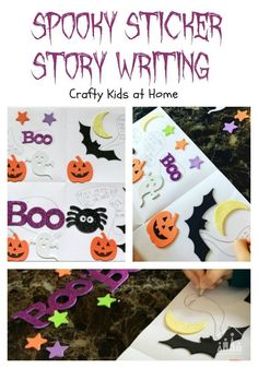Sometimes you really need an activity which will keep your kids all in the once place and quiet for a few minutes. Our Spooky Sticker Story Writing challenge ticks both boxes and is perfect for Halloween.