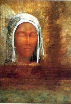 Virgin of the Dawn, 1890, Odilon Redon Medium: oil on canvas