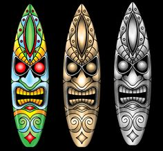 Tiki surfboard designs