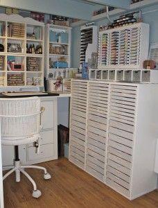 This lady has a wonderful craft studio.