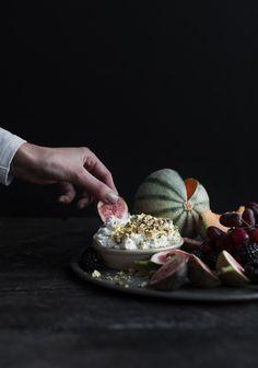 Trempette déjeuner à la ricotta, au miel et aux pistaches