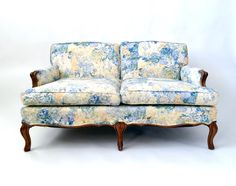 French Sofa Furniture Country Style Provincial Bergere Loveseat Settee Cabriole Leg Fl
