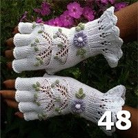 This page has 90 beautiful handknit gloves by dom-klary on Ravelry. These are #48.